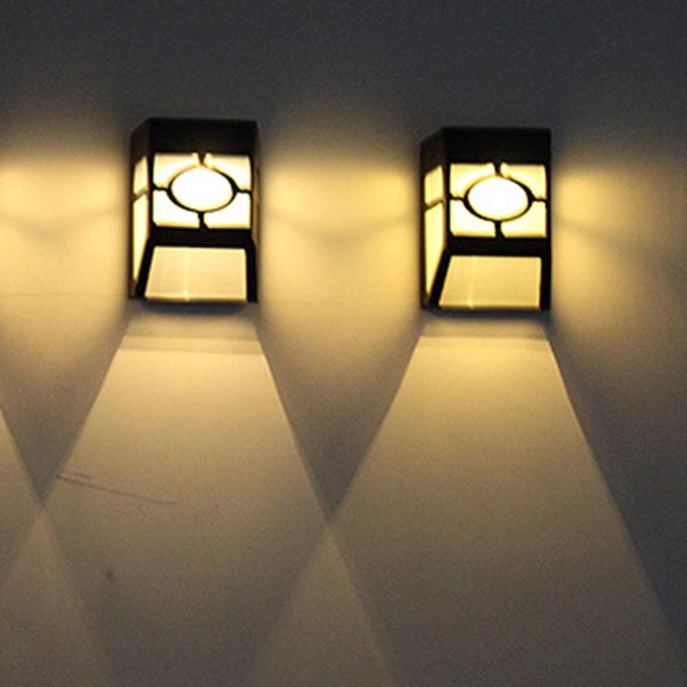Solar Retro Wall Lamp Solar Led Pane Light