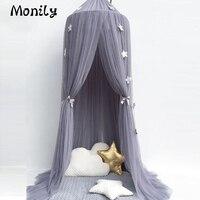 1 adet Dairesel Çocuklar Prenses Valance Gölgelik Cibinlik çocuk Bebek Yatak Odası Katlanır Cibinlik Kubbeler Dekor Koruyucu çadır
