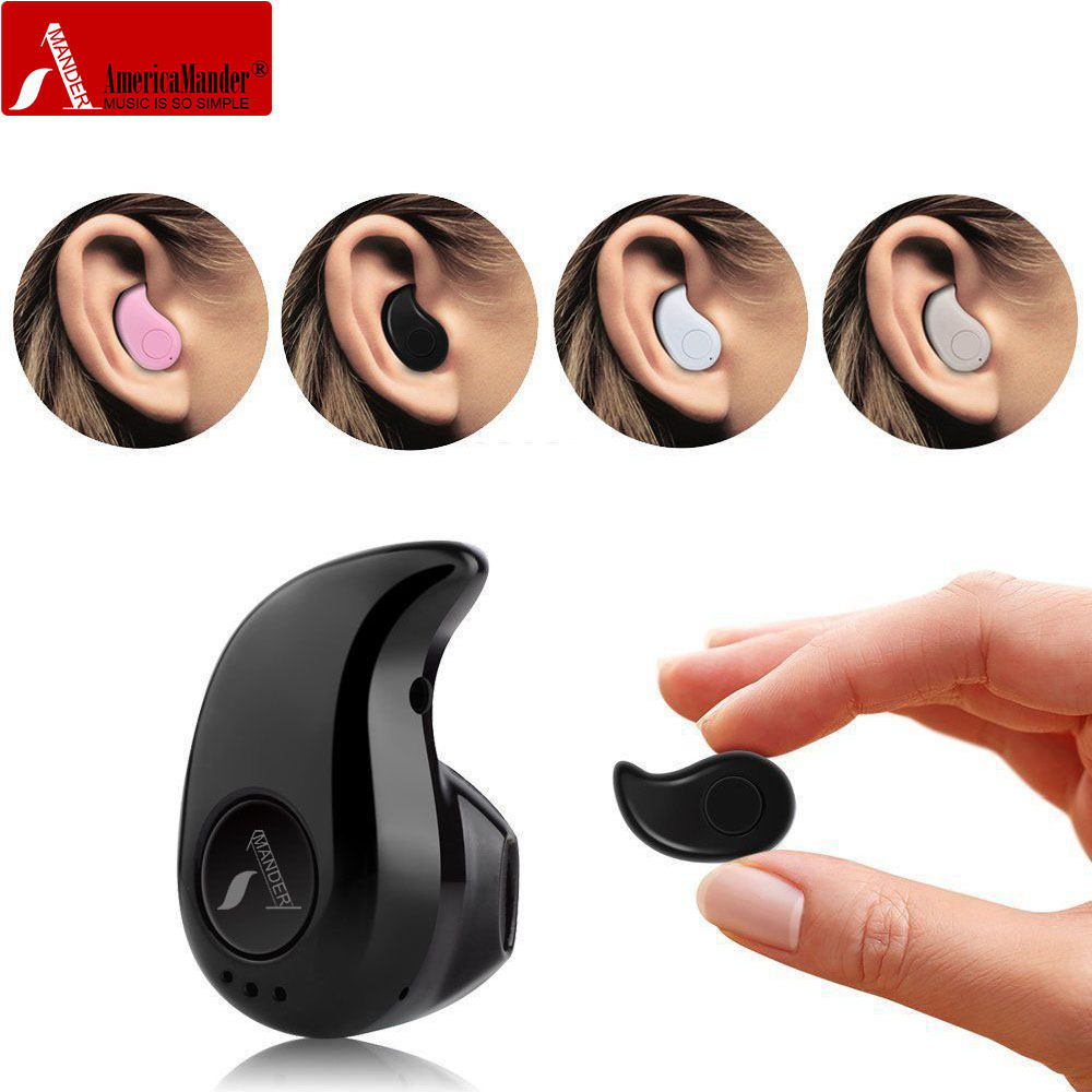 AmericaMander BT4 S530 mini Wireless Bluetooth Earphone Headset  4.1 earbud earphone with Mic for iphone android qcy q26 mono earbud business mini headset car calling wireless headphone bluetooth earphone with mic for iphone 6 7 s8 android