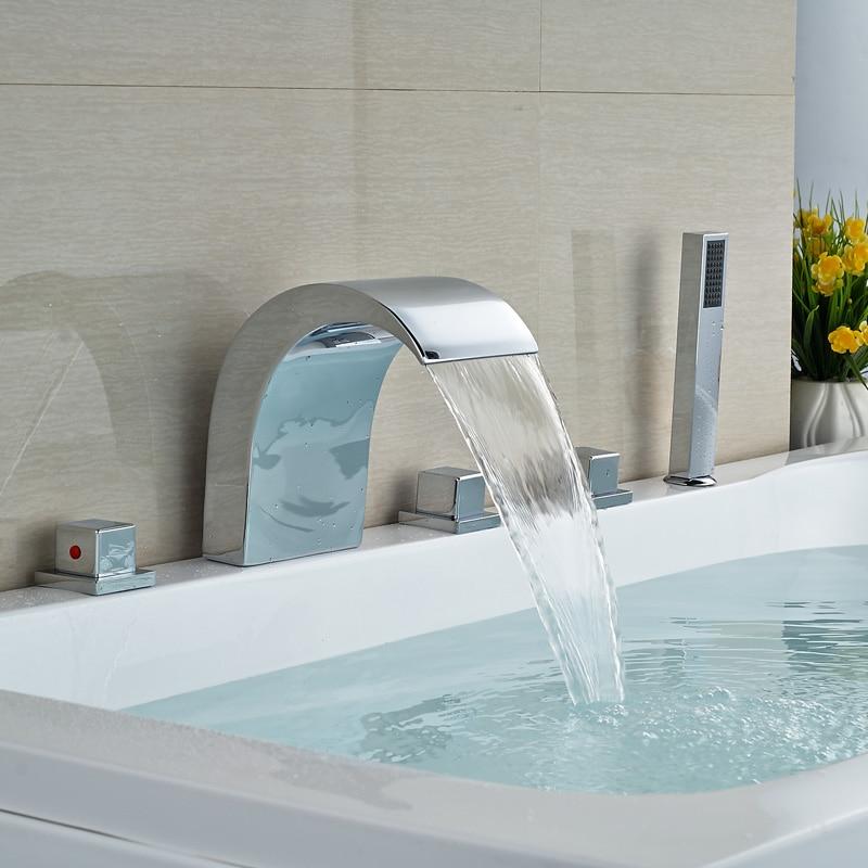 Unique Design Hot Sale Bathroom Bathtub Mixer Shower Faucet Polished ...