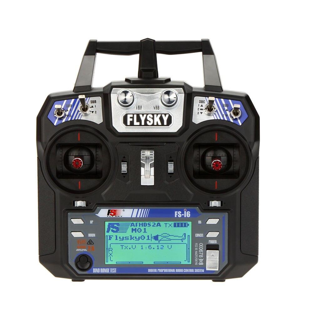 Original Flysky FS-i6 FS I6 2,4g 6ch transmisor RC controlador FS-iA6/FS-iA6B receptor para RC Racer planeador Drone/aviones