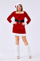 Big Plus Size Christmas Costumes for woman Santa Claus cosplay costumes For Adults Red sexy Christmas Clothes Luxury Suit