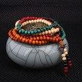 108 pcs Nova Moda Étnica jóias Bodhi contas Buddha pulseira vintage, Handmade Puro Jóias multi camadas pulseira de sândalo