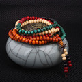 108 unids Nueva Moda joyería Étnica Bodhi Buda granos de la pulsera de la vendimia, Joyería Hecha A Mano de múltiples capas pulsera de madera de sándalo Puro