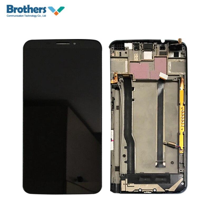 Display A CRISTALLI LIQUIDI Per Alcatel One Touch Hero Touch Screen LCD Nero con Bianco Telaio 8020D 8020 8020X OT8020D Touch Digitizer montaggio