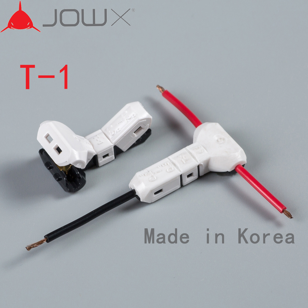 JOWX T-1 10PCS 23-20AWG 0.3-0.5sqmm Car Automotive Conectores Terminais de Fio Elétrico Cabo de Fiação Rápida Conector T Conjunta