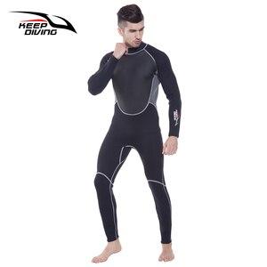 Image 3 - Terno de mergulho genuíno de 3mm, neoprene, peça única e perto do corpo, para homens, mergulho, surf, mergulho tamanho grande