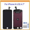 Um ++++ para iphone 6 5 5s 5c lcd screen display com Tela de Toque Digitador Assembléia + Ferramentas Preto Branco Livre grátis