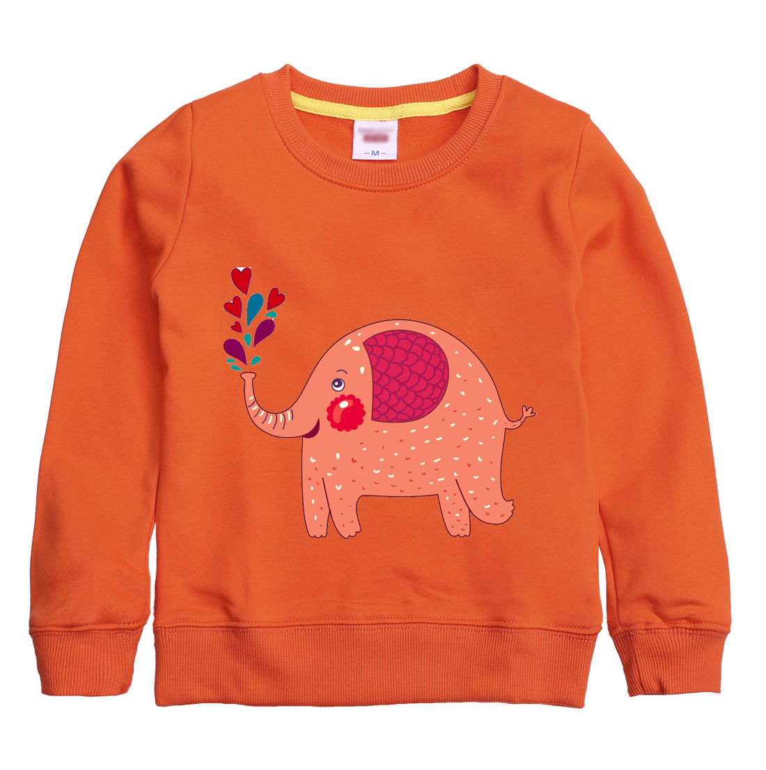 Elephant cartoon pattern printed winter autumn sweatshirt design for children hoodie childrens clothing with 8 colors for kids