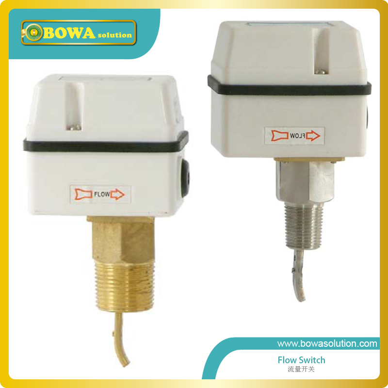 Stainless Steel Flow Switches with 1inch NPT connectors is great choice for seawater cooled water chiller or freezers