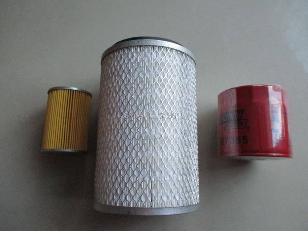 KIPOR air filter oil filter fuel filter fit for KDE45SS3 KDE45T3 KDE60SS3 diesel generator free shipping 3825133 6 fuel filter diesel generator
