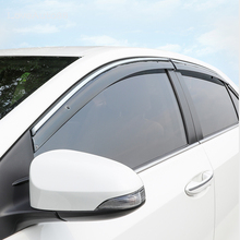 цена на 4Pcs Car Window Visor Door Rain Sun Shield Side Windows Cover Trim Auto Accessories For Toyota corolla 2019 2018 2017 2016 2015