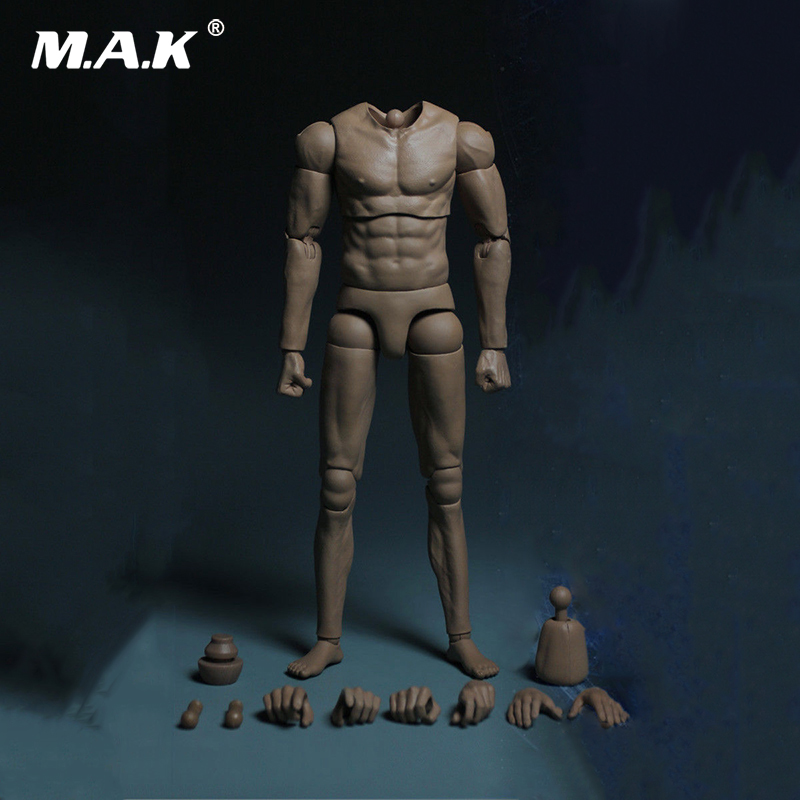 цена на 1:6 Scale MB002 Muscle Arm Double Joint Male Action Figure Body Model Toy