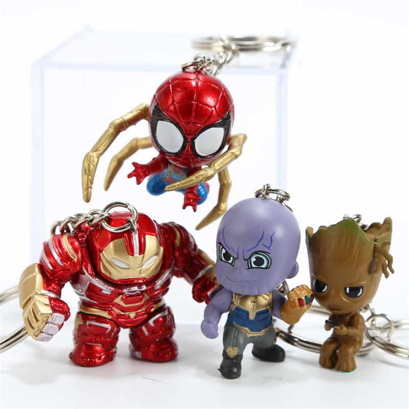 Endgame брелок Железный человек Человек-паук брелок для ключей танос Капитан Америка Antman Тор доктор странное кольцо для ключей