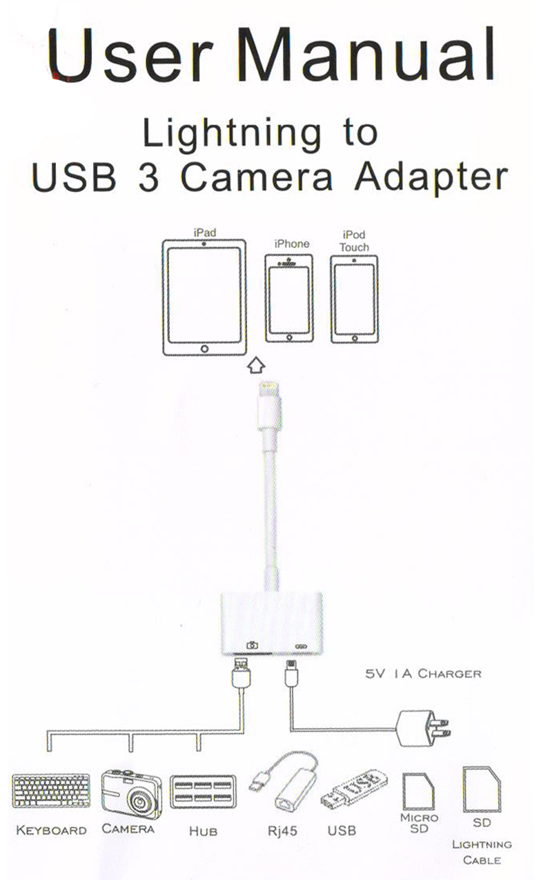 High Quality New For Lightning To Usb 3 Camera Reader Adapter Data Ipad Wiring Diagram 1 11