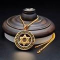Hexagram Pendant Necklace For Women Magen David Pendant Chain Stainless Steel Gold Jewelry Men Jewish Star Solomon Seal Necklace