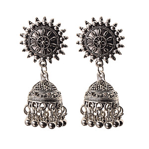 Image 5 - India Retro Birdcage Earrings Handmade Antique Silver Color Tribal Jewelry BOHO Hippie Wind Pakistani Muslim Thailand Nepal
