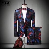 2019 New Slim Fit Blazer Men Two Piece Luxury Long Sleeve Single Breasted Wedding Blazer Suit Jacket Coat Pant Male Plus Size