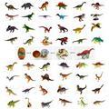 48 pcs assorted dinossauros 3D enigma do ovo de plástico brinquedo educativo diy edifício kits 3d puzzles