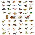 48pcs assorted 3D dinosaurs puzzle egg plastic diy educational toy building kits 3d puzzles