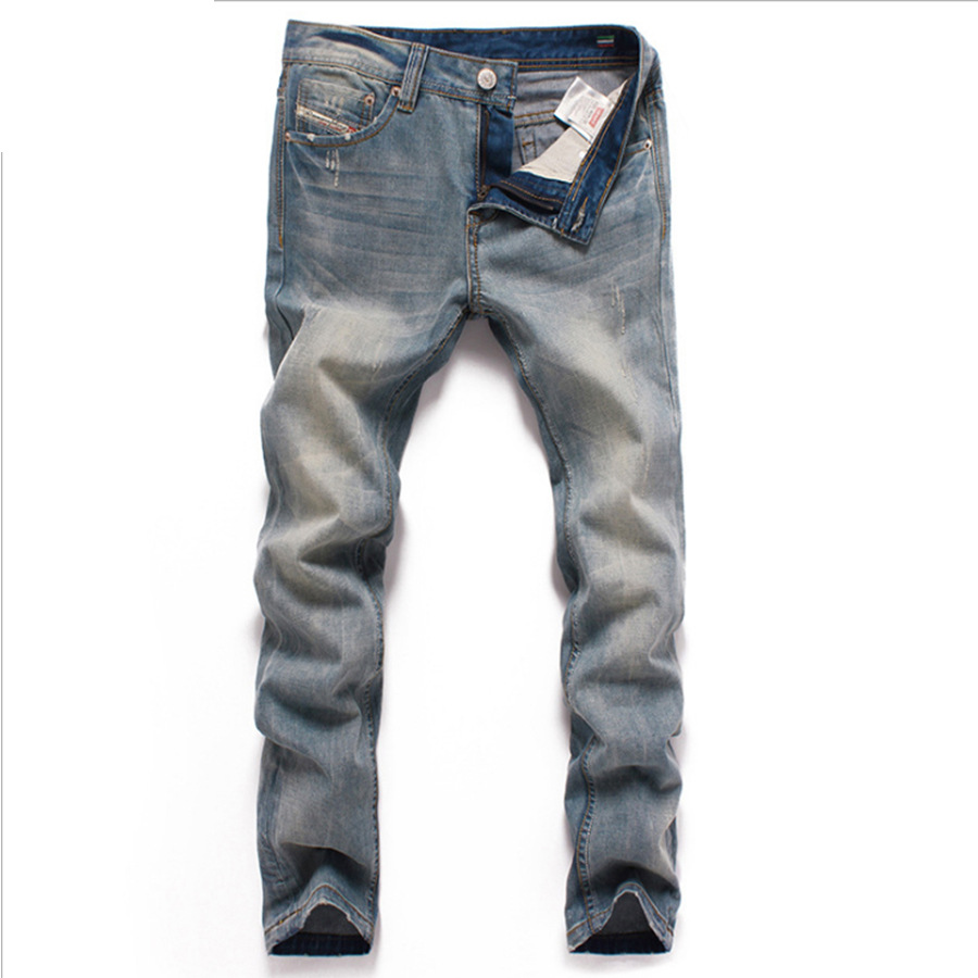 2017 Famous Designer Brand Upscale High Quality Cotton Men Jeans Trouser European and American Casual Style Pant for Male Jeans men s cowboy jeans fashion blue jeans pant men plus sizes regular slim fit denim jean pants male high quality brand jeans