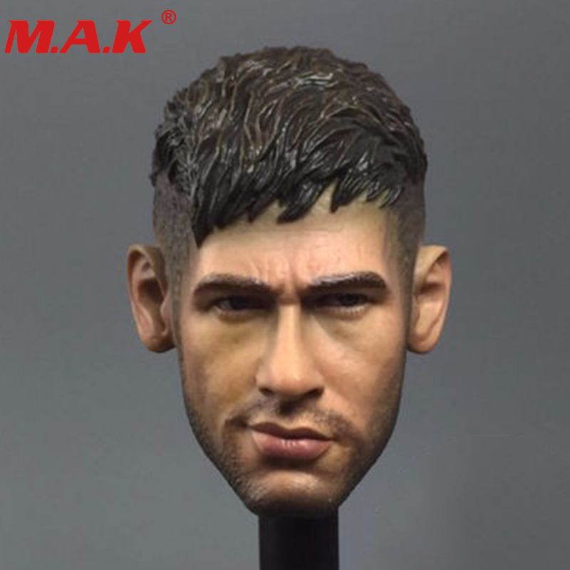 "1/6 Scale Male Man Head Model Brazil Soccer Star Neymar Da Silva Santos Junior Headplay Sculpt For 12"" Boy Body Figure"