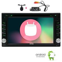 Android6.0 Car Stereo Navigation GPS Car Radio 2Din Vehicle DVD Player Support FM Radio OBD2 WiFi+Mic+Reversing and Front Camera