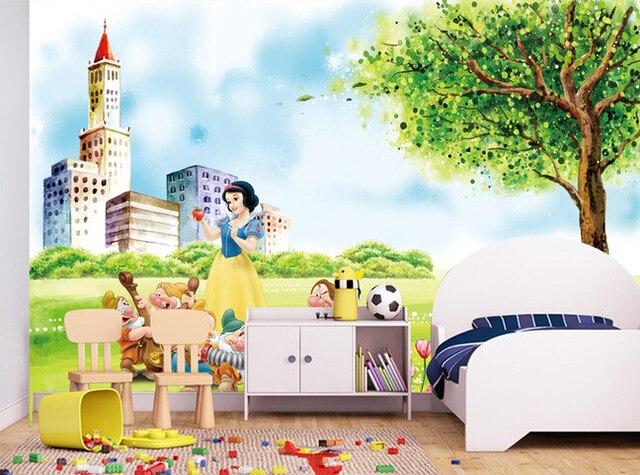 13 51 50 De Réduction Papier Peint Personnalisé De Parede Infantil Dessin Animé De Princesse Disney Pour Les Garçons Et Les Filles Dans Fonds