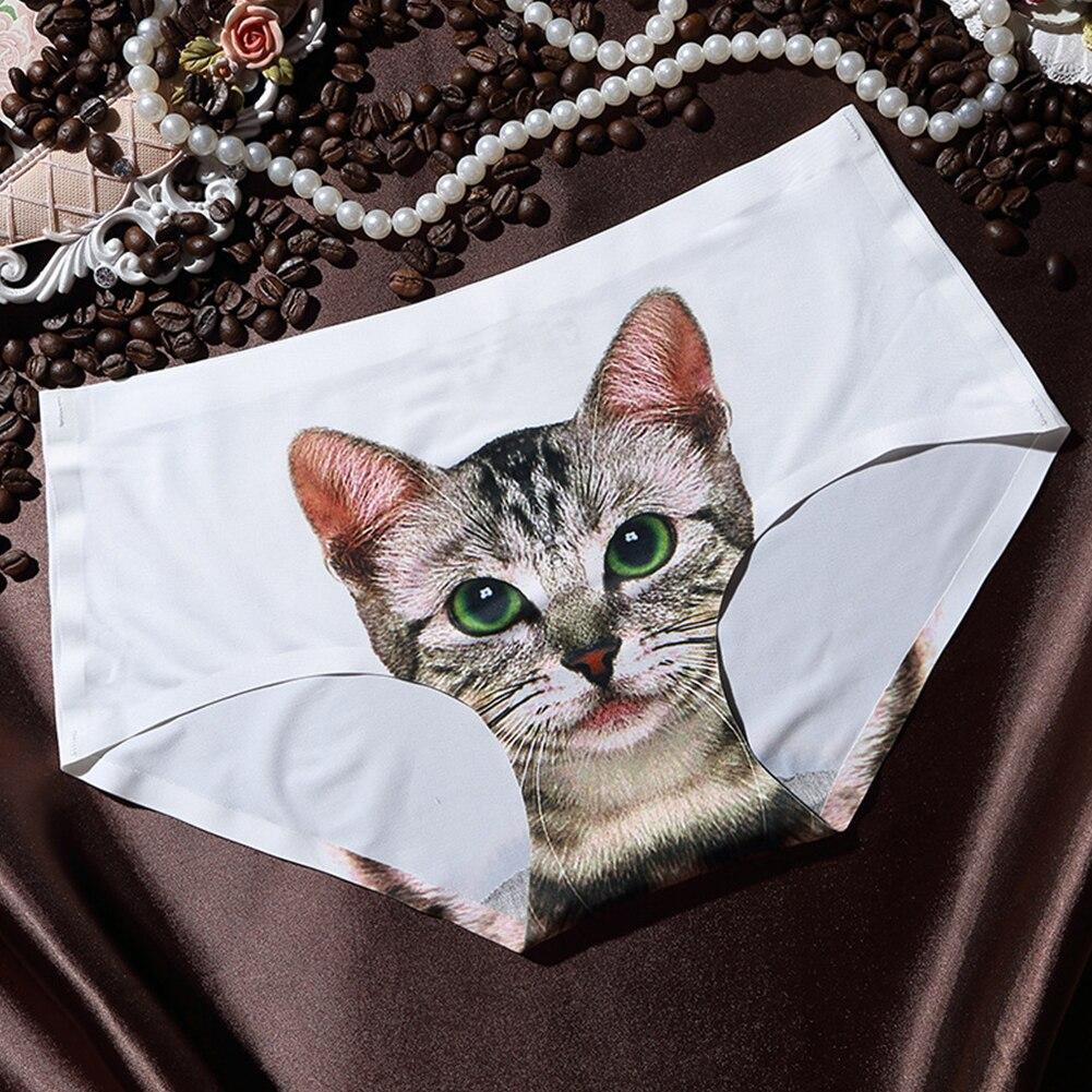 3D Printing Women's Pussycat   Panties   Anti Emptied Cat Printing Underwear Women   Panty   Sexy Briefs Women Seamless Control Girls