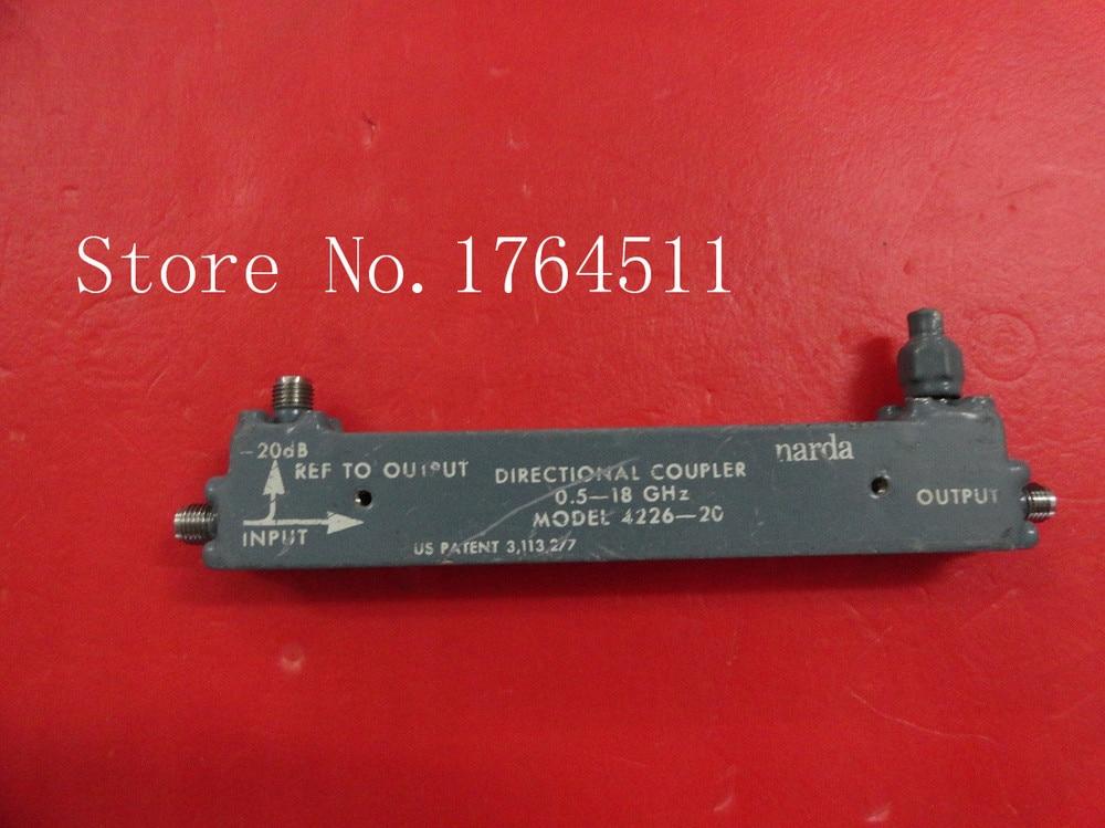 [BELLA] Narda 4226-20 0.5-18GHZ 20DB Coaxial Directional Coupler