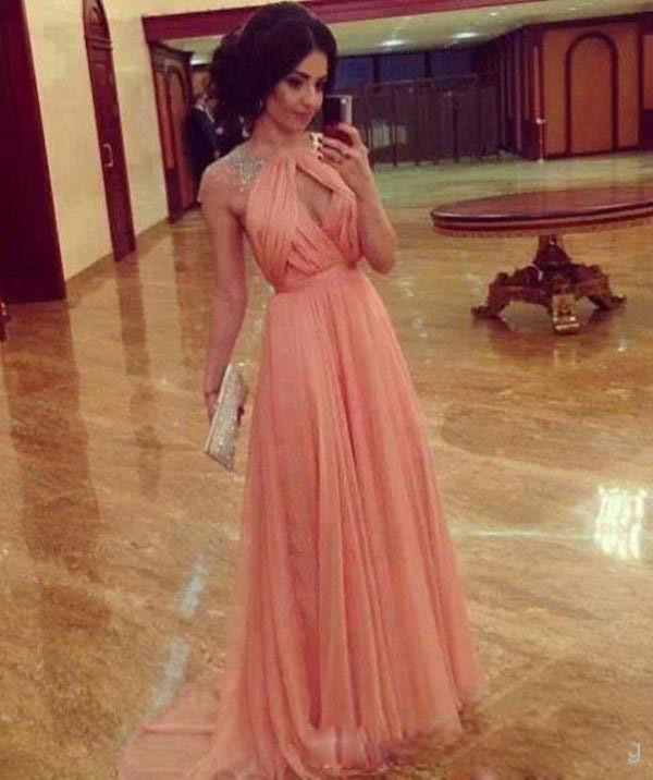 Online Buy Wholesale peach short prom dresses from China peach ...