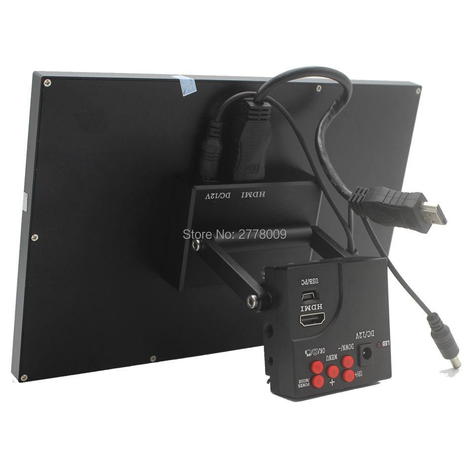 16mp 1080 P Full HD HDMI промышленный микроскоп Камера C Mount Поддержка хранения карты памяти фото и видео Регистраторы с 9 дюймовый Мониторы
