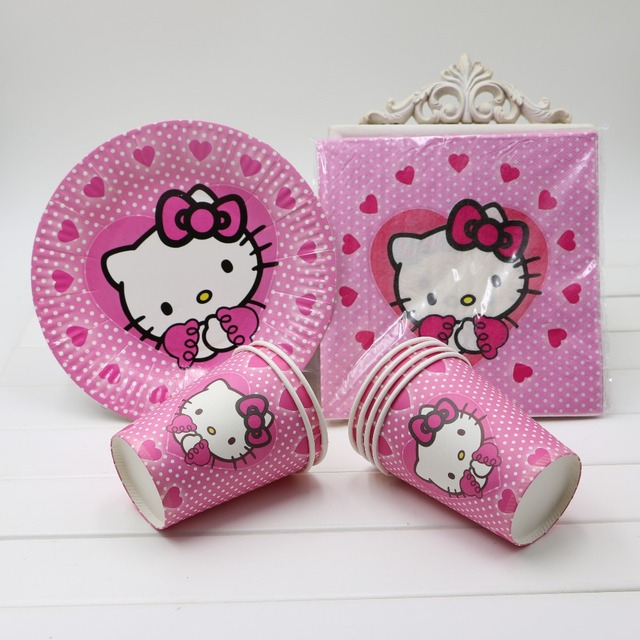 Free shipping 40Pcs/lot Girls birthday decoration Hello Kitty Theme Party Paper Cups+Paper  sc 1 st  AliExpress.com & Free shipping 40Pcs/lot Girls birthday decoration Hello Kitty Theme ...