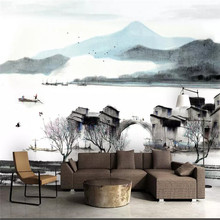 Creative wallpaper ink landscape painting artistic wall professional custom mural photo