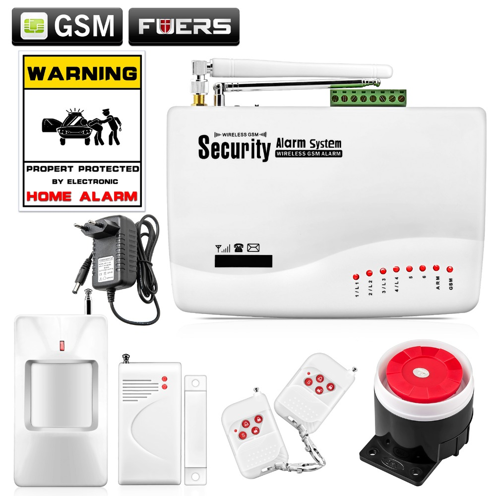 Russia Stocked Alarm System Russian English Voice Wireless GSM Alarm System Dual Antenna Security Home Alarm