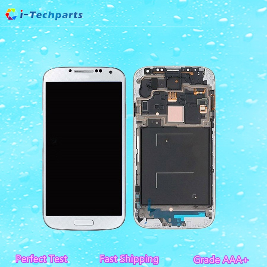 ФОТО New Original LCD Display Touch Digitizer Screen Assembly Replacement with Logo For Samsung Galaxy S4 GT i9505 i9500 White Black