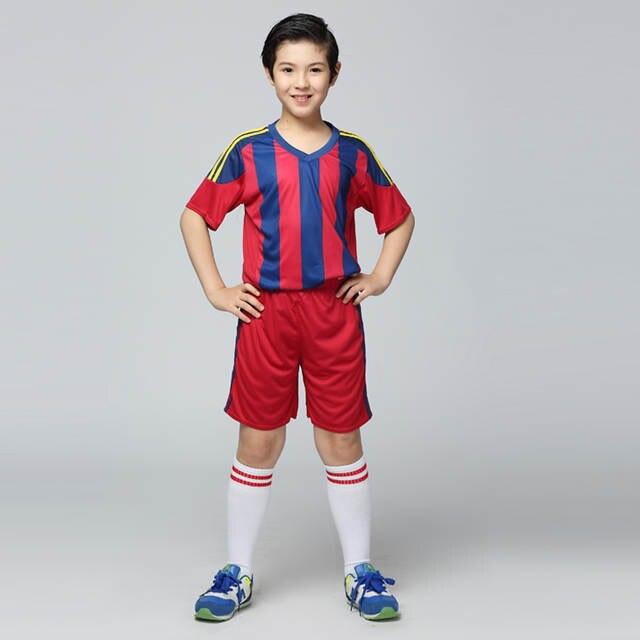 placeholder survetement football jerseys 2017 sports kit Kids Football  Jersey Boys Custom Soccer Set Youth Football Uniform 09dbed733