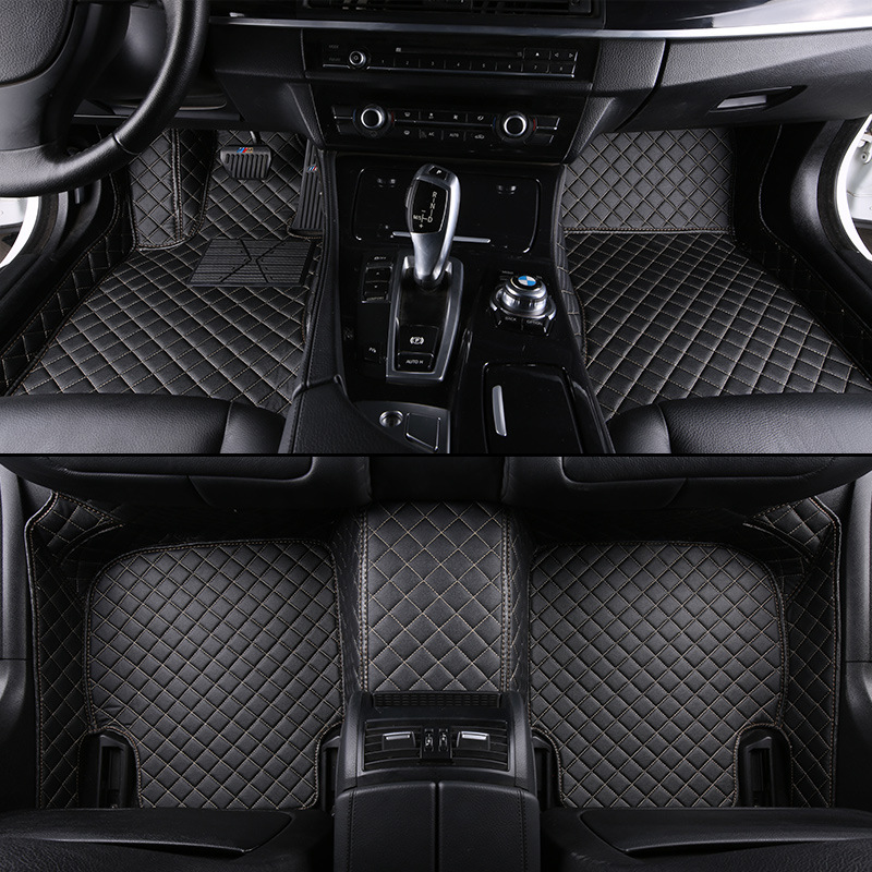 kalaisike Custom car floor mats for Land Rover All Models Rover Range Evoque Sport Freelander Discovery 3 4 car styling kalaisike plush universal car seat covers for land rover all model rover range evoque sport freelander discovery 3 4 car styling