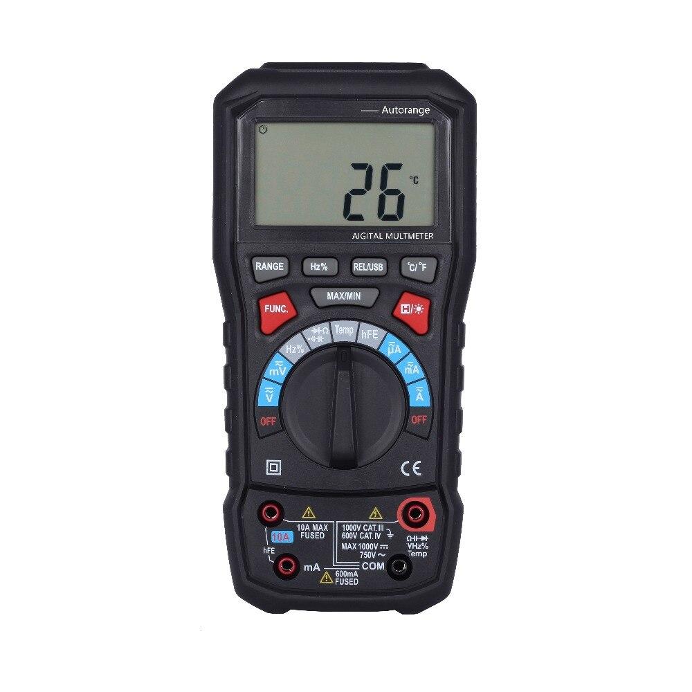 BSIDE ADM20 6000 compte TURE RMS autorange multimètre numérique avec interface USB VS UT61E ut139c