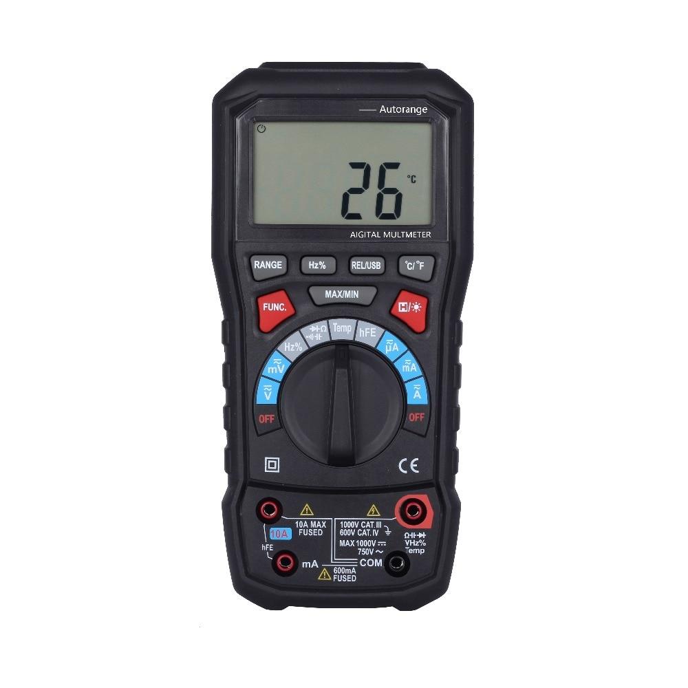BSIDE ADM20 6000 counts TURE RMS autorange digital multimeter with USB interface VS UT61E ut139c