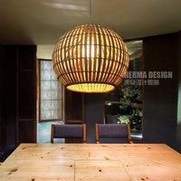 Простой бамбуковый домик подвесные светильники креативный Ротанг Гостиная Балкон ресторан чердак сад освещение подвесные лампы ZA zb47