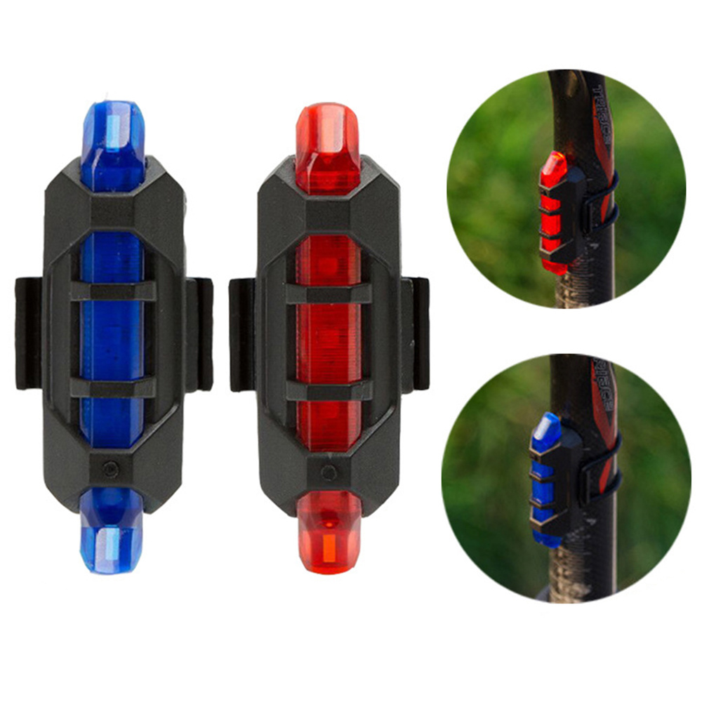 New USB Rechargeable Bike Bicycle Tail Rear Safety Warning Light Taillight Lamp Super Bright Bicycle Accessories Led Bike MTB