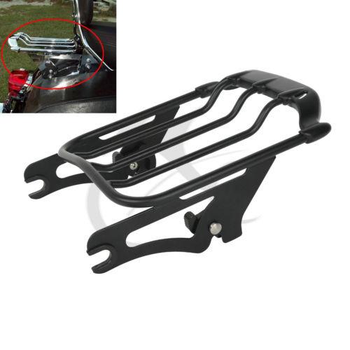 купить Black Air Wing Two Up Luggage Rack For Harley Touring Street Glide FLHX 09-16 по цене 6782.07 рублей