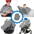 3 in 1 Nursing Scarf Cover Up Apron for Breastfeeding & Baby Car Seat Cover - Universal Fit for Newborns