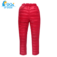 SP SHOW Winter Children Loose Boy And Girl Trousers and zipper solid cotton Trousers 62612