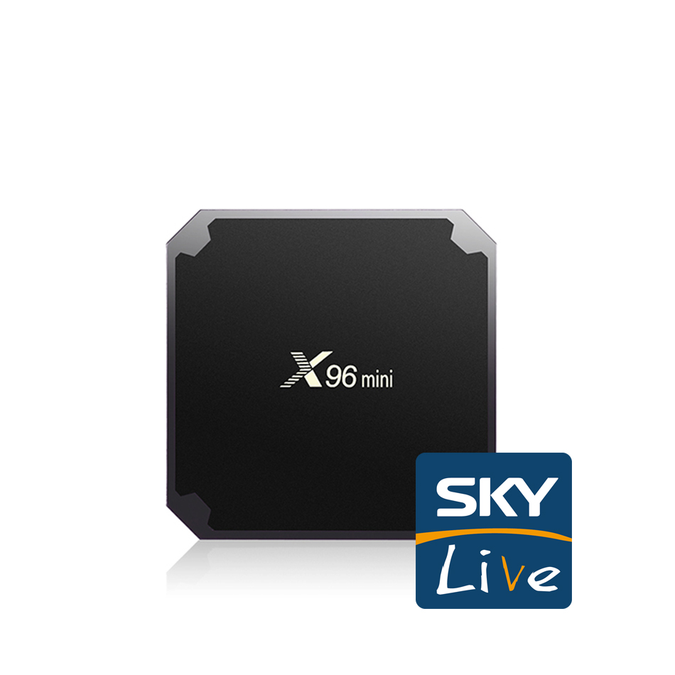 X96 mini and Skylive for Streaming Media Player for Amlogic S905X S905W IPTV Box Suppor HEVC 4K WiFi Sport Movie Music Service