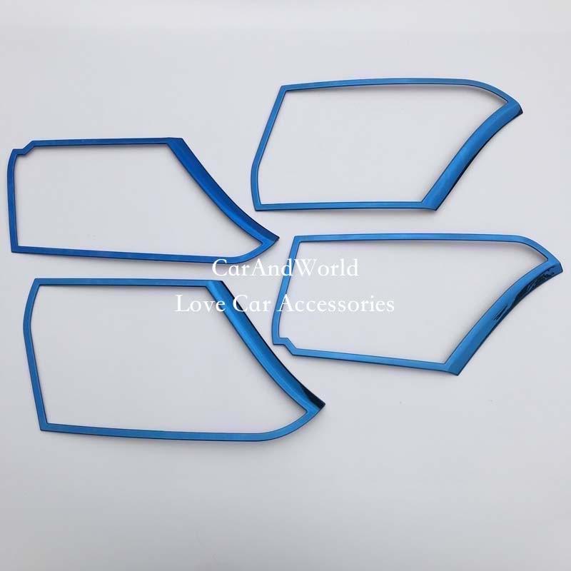 Stainless steel Inner Door Speaker Decoration cover Trim For Toyota Camry 2018