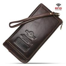Unisex Luxury Male Leather Purse Men's Clutch Wallets Handy Bags Business Carteras Mujer Wallets Men Black Brown
