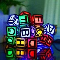 Eletorot Solar LED String Light 6M 30 LED Alphabet Letters Fairy Lights Garden Holiday Party Outdoor