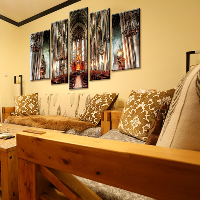 Wall Art Pictures Painting Prints 5 Panel Prague St.Vitus Cathedral ...